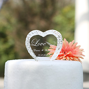 cheap Coaster Favors-Cake Topper Garden Theme Hearts Classic Couple Crystal Wedding Anniversary Bridal Shower With Gift Box