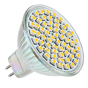 cheap LED Spot Lights-LED Spotlight 250 lm GU5.3(MR16) MR16 60 LED Beads SMD 3528 Warm White 12 V