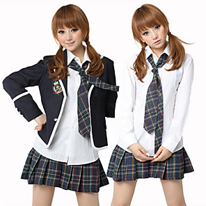 cheap Women's Sandals-Uniforms Cosplay Costume Women's School Uniforms Halloween Carnival New Year Festival / Holiday Polyester Women's Carnival Costumes