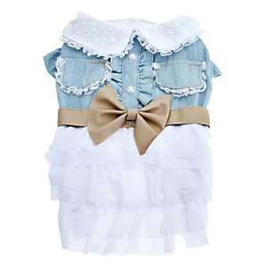 cheap Dog Clothes-Dog Dress Bowknot Cosplay Dog Clothes Costume Terylene XS S M L XL