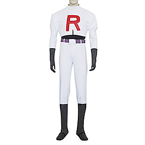 cheap Car Rear View Camera-Inspired by Pocket Little Monster Team Rocket James Video Game Cosplay Costumes Cosplay Suits Solid Colored Long Sleeve Top Pants Gloves Costumes