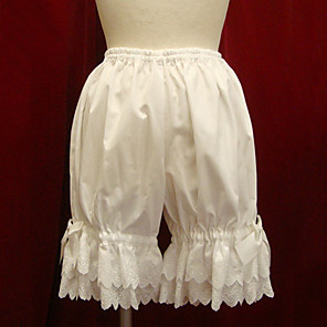 cheap Lolita Dresses-Vintage Lace Pants White Black Cotton Lolita Accessories