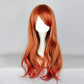 cheap Lolita Wigs-Cosplay Wigs Women's 26 inch Heat Resistant Fiber Orange Anime