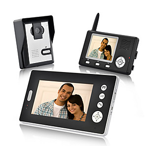 cheap Video Door Phone Systems-KONX Wireless Photographed 7inch Handheld One to Two video doorphone