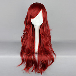 cheap Lolita Wigs-Cosplay Wigs Women's 26 inch Heat Resistant Fiber Red Anime / Gothic Lolita Dress