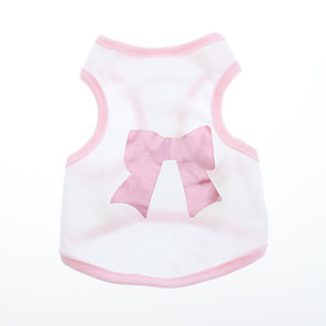 cheap Dog Clothes-Dog Shirt / T-Shirt Dog Clothes Breathable Pink Costume Cotton Bowknot XS S M L