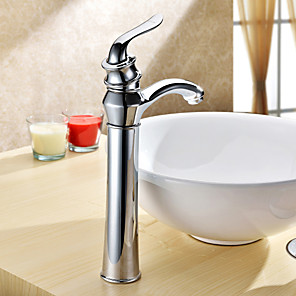 cheap Classical-Bathroom Sink Faucet - Rotatable Chrome Vessel One Hole / Single Handle One HoleBath Taps