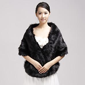 cheap Wedding Wraps-Shawls Faux Fur Party Evening / Casual Wedding  Wraps / Fur Wraps With