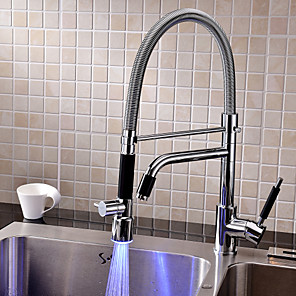 cheap Faucet Accessories-Kitchen faucet - One Hole Chrome Deck Mounted Contemporary Kitchen Taps