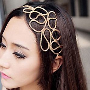 cheap Hair Jewelry-Women's Headbands For Daily Flower Fabric Alloy Gold / Hair Jewelry