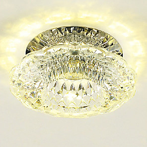 cheap Flush Mounts & Semi Flush Mounts-LightMyself™ 10 cm Crystal / Mini Style / LED Flush Mount Lights Modern Contemporary 110-120V / 220-240V