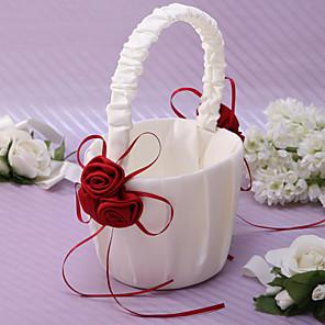 """رخيصةأون أطقم الأعراس-سلة الأزهار ساتين 8 3/5"""" (22 cm) بتلات / وشاح"""