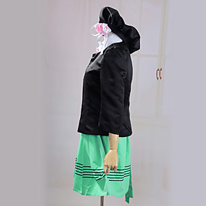 cheap Videogame Costumes-Inspired by Cosplay Nameless Actress Video Game Cosplay Costumes Cosplay Suits Dresses Long Sleeve Coat Dress Hat