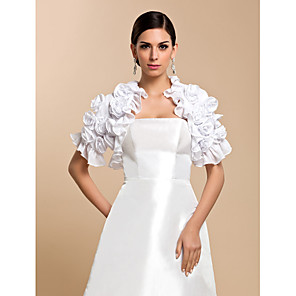 cheap Girls' Dresses-Short Sleeve Coats / Jackets Chiffon Wedding / Party Evening / Casual Wedding  Wraps With