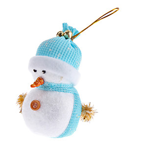 cheap Holiday Supplies-Light Weight Knitted Hatted Snowman Christmas Ornament (Random Color)