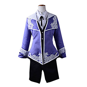 cheap Videogame Costumes-Inspired by Vocaloid Kaito Video Game Cosplay Costumes Cosplay Suits Coat Vest Blouse Scarf Shorts