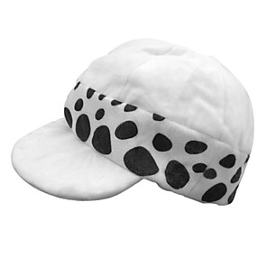cheap Anime Costumes-Hat / Cap Inspired by One Piece Trafalgar Law Anime Cosplay Accessories Hat Polyester Men's Halloween Costumes