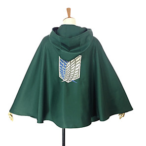 cheap Anime Costumes-Inspired by Attack on Titan Levy Anime Cosplay Costumes Japanese Cosplay Tops / Bottoms Patchwork Cloak For Men's