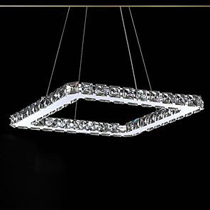 povoljno Dizajn kruga-UMEI™ 20 cm Crystal / LED Privjesak Svjetla Metal Linear Electroplated Suvremena suvremena 90-240V