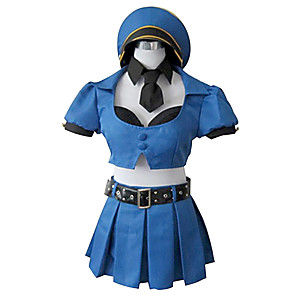 cheap Videogame Costumes-Inspired by LOL Cosplay Video Game Cosplay Costumes Cosplay Suits Patchwork Top Skirt Cap Costumes