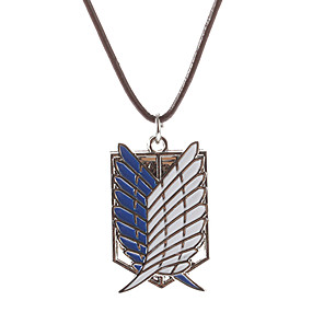 cheap Anime Cosplay Accessories-Jewelry Inspired by Attack on Titan Cosplay Anime Cosplay Accessories Wings Necklace Metal Men's Women's Halloween Costumes