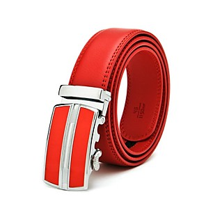 cheap Dog Clothes-Men's Automatic Buckle Business Leather Belt