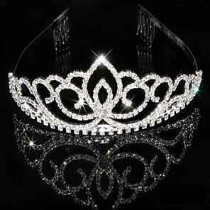 cheap Party Headpieces-Crystal Rhinestone Tiaras Headpiece