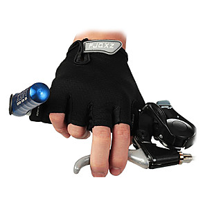 cheap Cycling Jersey & Shorts / Pants Sets-FJQXZ Bike Gloves / Cycling Gloves Mountain Bike MTB Breathable Anti-Slip Sweat-wicking Protective Fingerless Gloves Half Finger Sports Gloves Black for Adults' Outdoor