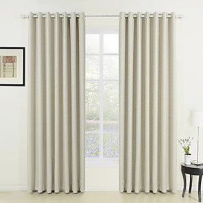 cheap Curtains Drapes-Custom Made Room Darkening Curtains Drapes Two Panels  / Embossed / Living Room