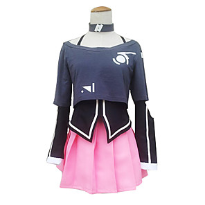 cheap Videogame Costumes-Inspired by Vocaloid IA Video Game Cosplay Costumes Cosplay Suits / Dresses Pattern Long Sleeve Coat Skirt Collar Costumes