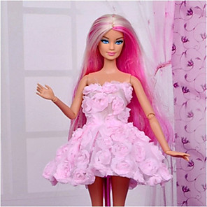 cheap Stuffed Animals-Doll Dress Party / Evening For Barbiedoll Polyester Dress For Girl's Doll Toy / Kids