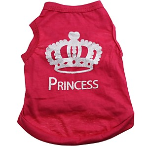 cheap Dog Clothes-Cat Dog Shirt / T-Shirt Tiaras & Crowns Dog Clothes Rose Costume Cotton XS S M L
