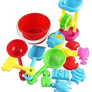 cheap Beach & Sand Toys-Beach Sand Toys Set Sand Molds Sand Shovel Tool Kits 15 pcs Plastic Creative For Kid's Adults' Boys' Girls'