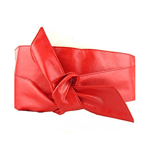 cheap Party Sashes-Women's Party Leather Wide Belt - Solid Colored