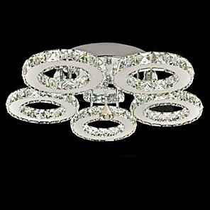 cheap Ceiling Lights-1-Light UMEI™ 50 cm Crystal Flush Mount Lights Metal Electroplated Modern Contemporary 90-240V