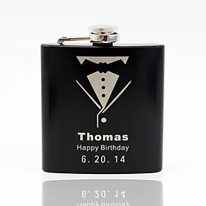 cheap Wedding Gifts-Stainless Steel Hip Flasks Groom / Groomsman / Couple Wedding / Anniversary / Birthday