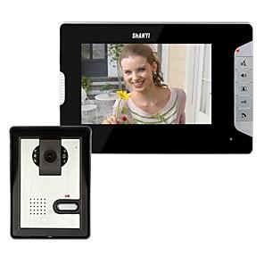 cheap Video Door Phone Systems-7 Inch Video Door Phone Doorbell Intercom Kit 1-camera 1-monitor Night Vision