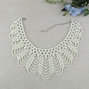 cheap Hair Jewelry-Women's Pearl Collar Necklace Seed Pearls Ladies Vintage Fashion Elegant Pearl Imitation Pearl White Necklace Jewelry 1pc For Wedding Party Special Occasion Birthday Gift Daily