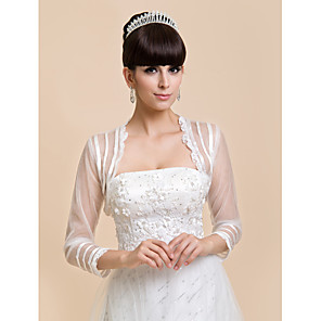 cheap Wedding Wraps-Coats / Jackets Lace / Tulle Wedding / Party Evening / Casual Wedding  Wraps With