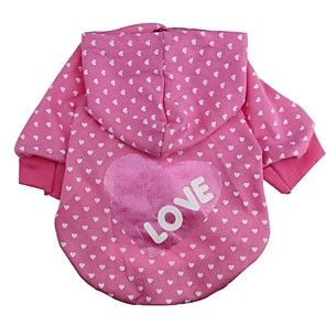 cheap Dog Clothes-Cat Dog Hoodie Dog Clothes Stars Rose Cotton Costume For Spring &  Fall