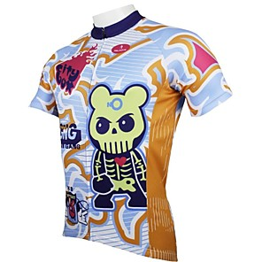 cheap Dog Clothes-ILPALADINO Men's Short Sleeve Cycling Jersey Cartoon Bear Bike Jersey Top Mountain Bike MTB Road Bike Cycling Breathable Quick Dry Ultraviolet Resistant Sports Clothing Apparel