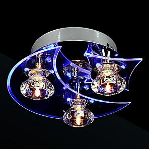 cheap Spot Lights-3-Light 24 cm Crystal / LED Flush Mount Lights Metal Electroplated Modern Contemporary 110-120V / 220-240V / LED Integrated / Bulb Included / G4