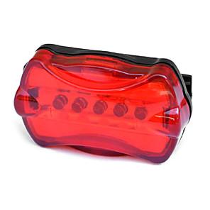 cheap Bike Lights & Reflectors-Waterproof Super Bright Battery Powered Rear Tail Bike Light Lamp Taillight Bright 5LED Cycling Bike Safety Rear Light