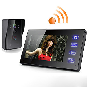 Wireless 7 Inches LCD Touch Screen Phone Intercom Video Door Doorbell Home Security  Camera Monitor