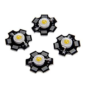 cheap Light Bulbs-ZDM 5PCS 1W 80-100LM  High Brightness Chip, High Power LED Warm White Hight 3000-3500K, Aluminum Substrate  (DC3-3.2V 350mA)
