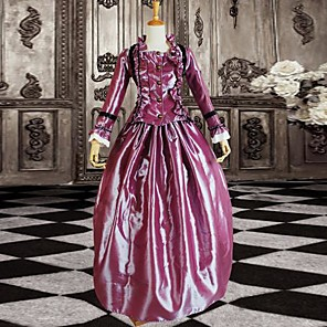 cheap Historical & Vintage Costumes-Dress Classic Lolita Dress Women's Purple Lolita Accessories Dress Satin Halloween Costumes / Long Length