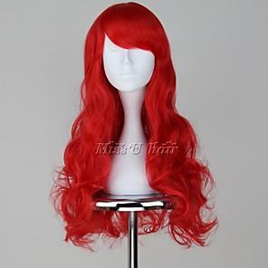cheap Bike Frame Bags-The Little Mermaid Ariel Cosplay Wigs Women's 26 inch Heat Resistant Fiber Anime Wig