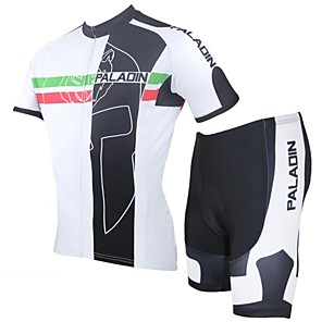cheap Cycling Jersey & Shorts / Pants Sets-ILPALADINO Men's Short Sleeve Cycling Jersey with Shorts Red Bike Shorts Jersey Clothing Suit Breathable Quick Dry Ultraviolet Resistant Sports Polyester Lycra Curve Mountain Bike MTB Road Bike