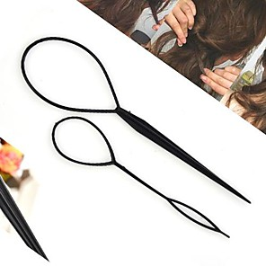 cheap Hair Jewelry-Women's Girls' Hair Sticks For Daily Flower Acrylic Black