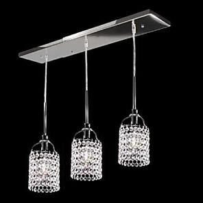 cheap Pendant Lights-1-Light SL® 55cm(21.7inch) Crystal Pendant Light Metal Tiffany 110-120V / 220-240V